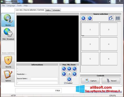 স্ক্রিনশট webcamXP Windows 8