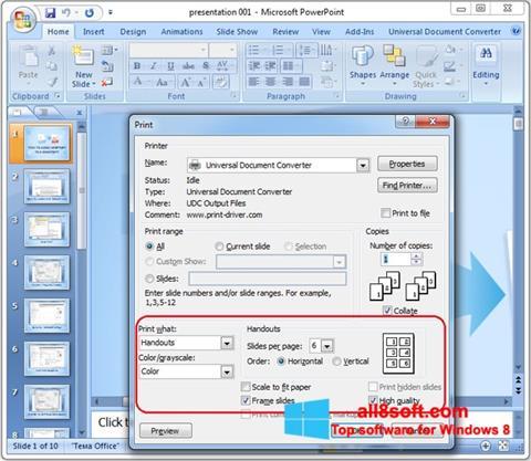স্ক্রিনশট Microsoft PowerPoint Windows 8