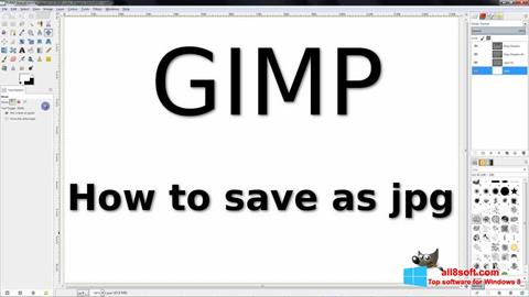 স্ক্রিনশট GIMP Windows 8