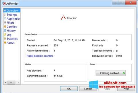 স্ক্রিনশট AdFender Windows 8
