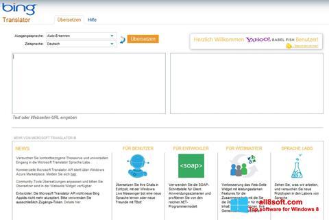 স্ক্রিনশট Bing Translator Windows 8
