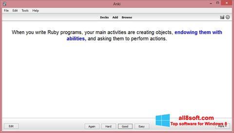 স্ক্রিনশট Anki Windows 8