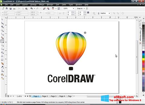 স্ক্রিনশট CorelDRAW Windows 8