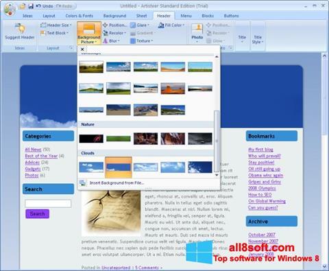 স্ক্রিনশট Artisteer Windows 8
