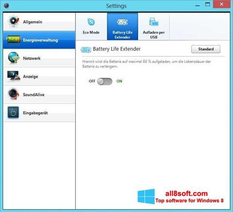 স্ক্রিনশট Easy Settings Windows 8