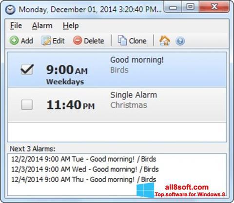 স্ক্রিনশট Free Alarm Clock Windows 8