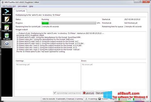 স্ক্রিনশট MKVToolnix Windows 8