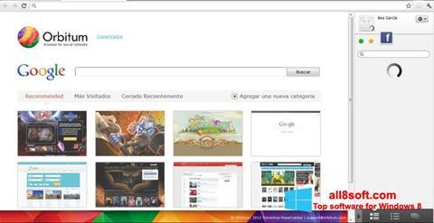 স্ক্রিনশট Orbitum Windows 8