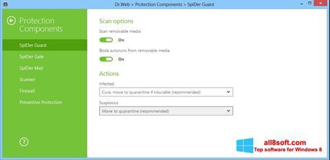 স্ক্রিনশট Dr.Web Security Space Windows 8