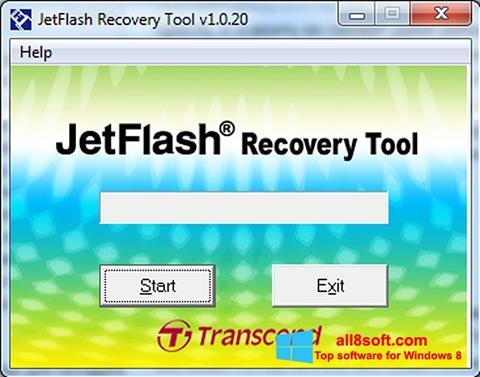 স্ক্রিনশট JetFlash Recovery Tool Windows 8