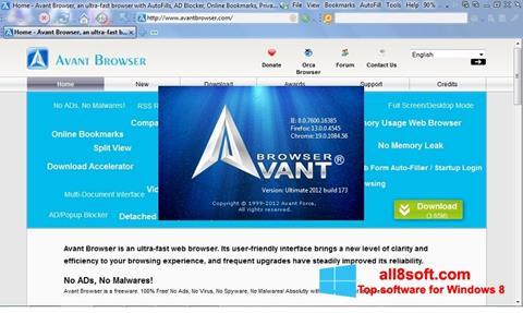 স্ক্রিনশট Avant Browser Windows 8