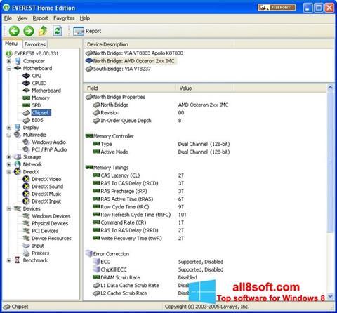 স্ক্রিনশট EVEREST Home Edition Windows 8