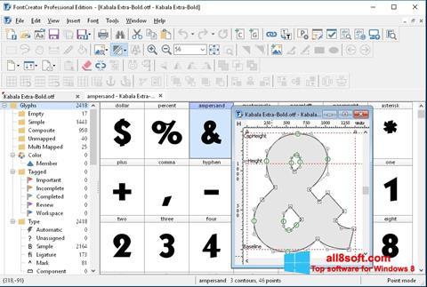 স্ক্রিনশট Font Creator Windows 8