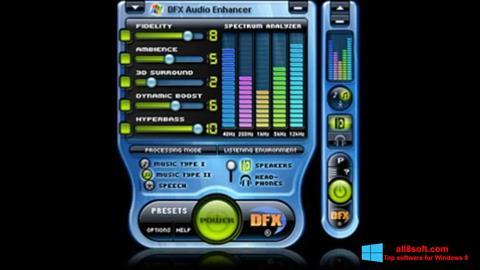 স্ক্রিনশট DFX Audio Enhancer Windows 8
