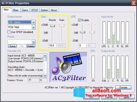 স্ক্রিনশট AC3Filter Windows 8