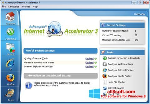 স্ক্রিনশট Ashampoo Internet Accelerator Windows 8