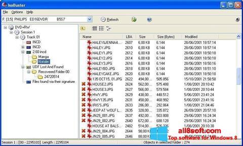 স্ক্রিনশট IsoBuster Windows 8