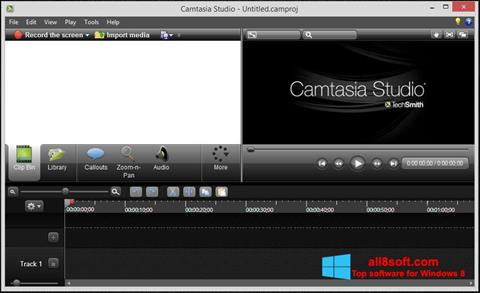 স্ক্রিনশট Camtasia Studio Windows 8