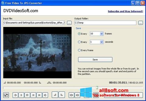 স্ক্রিনশট Free Video to JPG Converter Windows 8