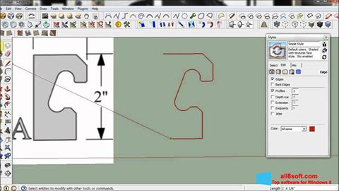 স্ক্রিনশট SketchUp Windows 8