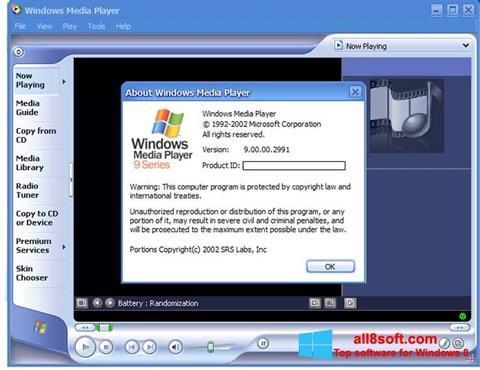 স্ক্রিনশট Windows Media Player Windows 8
