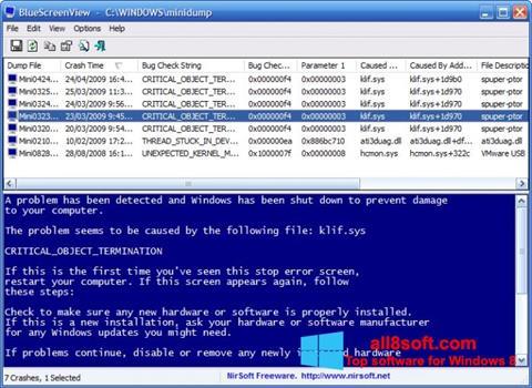 স্ক্রিনশট BlueScreenView Windows 8