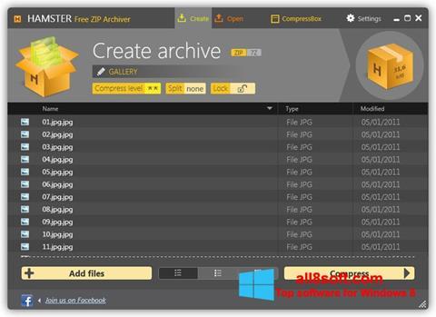 স্ক্রিনশট Hamster Free ZIP Archiver Windows 8