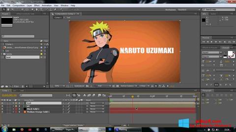 স্ক্রিনশট Adobe After Effects Windows 8