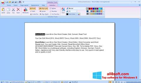 স্ক্রিনশট DocX Reader Windows 8