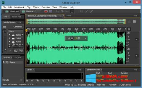 স্ক্রিনশট Adobe Audition CC Windows 8