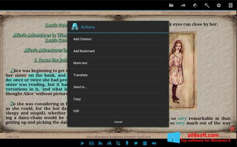 স্ক্রিনশট AlReader Windows 8