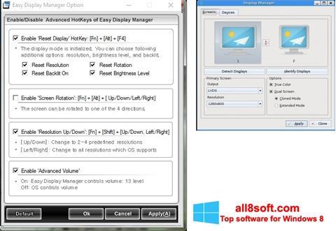 স্ক্রিনশট Easy Display Manager Windows 8