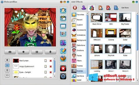 স্ক্রিনশট WebcamMax Windows 8